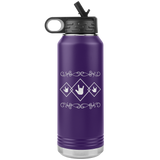 "ASL Merchandise ""ILY Squared"" Etched ASL Water Bottle 32oz"
