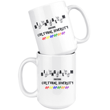 "Sign Language Mug ""Diversity Color"" White Ceramic ASL Coffee Mug"