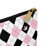 "ASL Bag ""ILY Argyle"" Zippered Polyester ASL Accessory Bag"