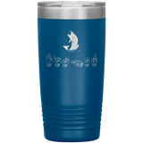 "Sign Language Tumbler ""Fishing"" Personalized ASL Tumbler 20oz"