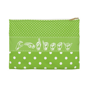 "ASL Bag ""Polka-Dots"" Zippered Polyester ASL Accessory Bag"