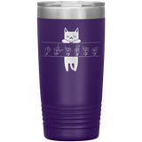 "Sign Language Tumbler ""Cat Lover"" Personalized ASL Tumbler 20oz"