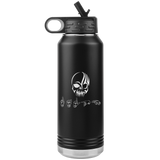 "ASL Merchandise ""Tribal Skull"" Personalized ASL Water Bottle 32oz"