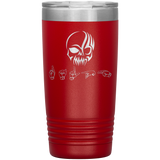 "Sign Language Tumbler ""Tribal Skull"" Personalized ASL Tumbler 20oz"