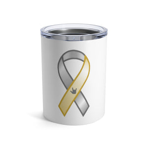 "Sign Language Tumbler ""Awareness"" Stainless Steel ASL Tumbler 10oz"