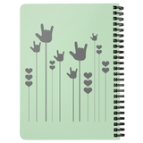 "ASL Stationery ""ILY Sprout"" 5 x 7 Spiral ASL Notebook"