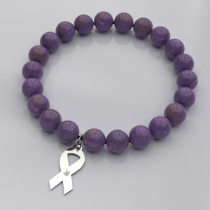 "ASL Bracelet ""ILY Ribbon"" Engraved Awareness Pendant"