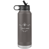 "ASL Merchandise ""ASL Station"" Personalized ASL Water Bottle 32oz"