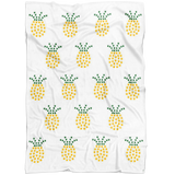 "Sign Language Blanket ""ILY Pineapple"" Microfiber Fleece ASL Blanket"