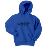 "Sign Language Hoodie ""Hashtag ASL"" Youth Pullover ASL Hoodie 2"