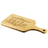 "ASL Merchandise ""Custom ASL"" Personalized Bamboo Cutting Board w/Handle"
