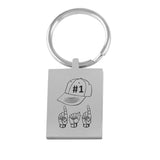 "ASL Merchandise ""ASL DAD"" Engraved Keychain ASL Accessory"