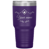 "Sign Language Tumbler ""ASL Station"" Personalized ASL Tumbler 30oz"