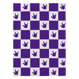 "ASL Stationery ""ILY Checkered"" Hardcover ASL Journal: Purple"