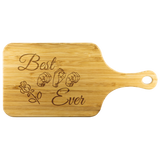 "ASL Merchandise ""Best Mom"" Etched Bamboo Cutting Board w/Handle"