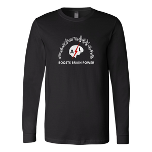 "ASL Shirt ""Brain Power"" Unisex LS Sign Language T-Shirt"