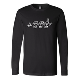 "ASL Shirt ""Hashtag ASL"" Unisex LS Sign language T-Shirt"