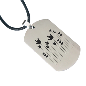 "ILY Necklace ""ILY Sprout"" Engraved Dogtag Necklace"
