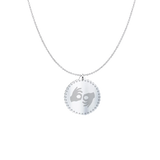 "ASL Necklace ""ASL Interpreter"" Engraved Silver Pendant"