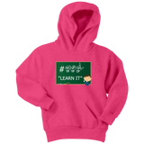 "Sign Language Hoodie ""ASL Learn It"" Youth Pullover ASL Hoodie"