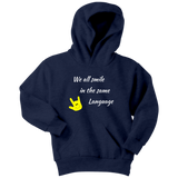"Sign Language Hoodie ""Everyone Smiles"" Youth Pullover ASL Hoodie"
