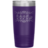 "Sign Language Tumbler ""Custom"" Personalized ASL Tumbler 20oz"