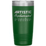 "Sign Language Tumbler ""Artistic Literal"" Etched Steel ASL Tumbler 20oz"