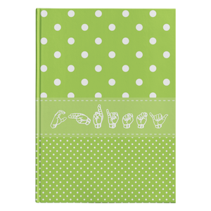 "ASL Stationery ""Polka-Dots"" Hardcover ASL Journal: Personalized"