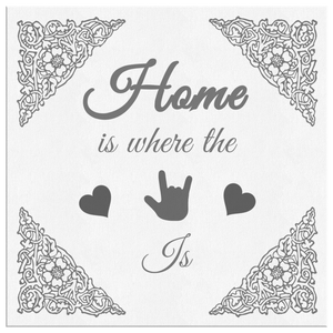 "ASL Home Decor ""ILY Home"" Canvas ASL Wall Art - Multiple Sizes"