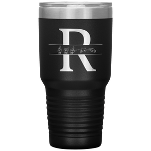 "Sign Language Tumbler ""Custom ASL"" Personalized ASL Tumbler 30oz"