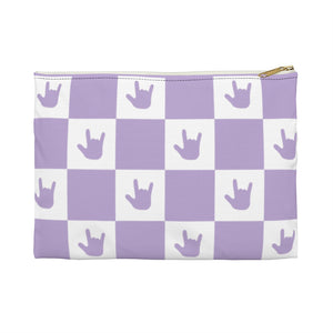 "ASL Bag ""ILY Checkered"" Zippered Polyester ASL Accessory Bag"