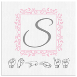 "ASL Home Decor ""Monogram"" Canvas ASL Wall Art - Multiple Sizes"