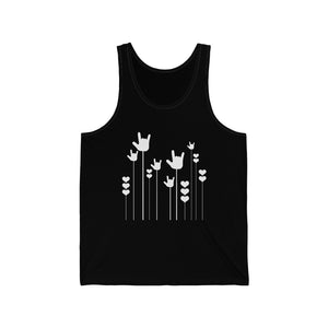 "ASL Shirt ""ILY Sprout"" Unisex Jersey ASL Tank Top"
