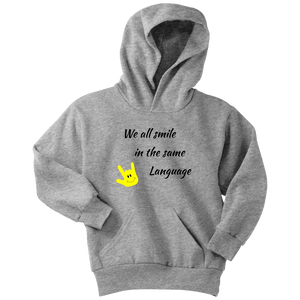 "Sign Language Hoodie ""Everyone Smiles"" Youth Pullover ASL Hoodie 2"