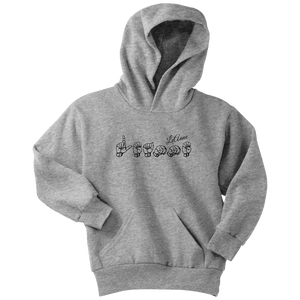 "Sign Language Hoodie ""Personalized"" Youth Pullover ASL Hoodie 2"