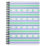 "ASL Stationery ""ILY Striped"" 5 x 7 Spiral ASL Notebook"