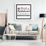 "ASL Home Decor ""Artistic Literal"" Canvas ASL Wall Art - Multiple Sizes"