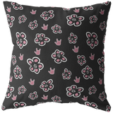 "ASL Home Decor ""ILY Floral"" ASL Throw Pillow - Multiple Sizes"