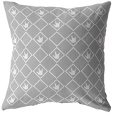 "ASL Home Decor ""ILY Squared"" ASL Throw Pillow: Gray - Multiple Sizes"