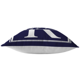 "ASL Home Decor ""Custom ASL"" ASL Throw Pillow: Navy - Multiple Sizes"