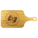 "ASL Merchandise ""Interpreter Hearts"" Etched Bamboo Cutting Board w/Handle"