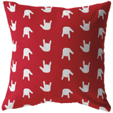 "ASL Home Decor ""ILY Wave"" ASL Throw Pillow: Red - Multiple Sizes"