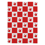 "ASL Stationery ""ILY Checkered"" Hardcover ASL Journal: Red"