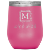 "Sign Language Tumbler ""Monogram"" Personalized ASL Wine Tumbler"