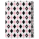 "ASL Stationery ""ILY Argyle"" 5 x 7 Spiral ASL Notebook"