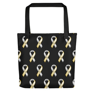 "ASL Bag ""Awareness"" Polyester 15x15 Pattern ASL Tote Bag"