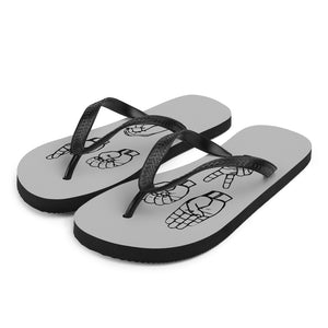 "Sign Language Shoes ""Beer 30"" ASL Flip-Flops Sandals"