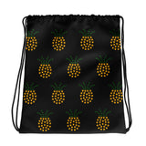 "ASL Bag ""ILY Pineapple"" Polyester 15x17 ASL Drawstring Bag"