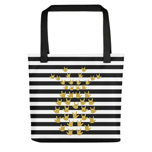 "ASL Bag ""ILY Pineapple 2"" Polyester 15x15 Pattern ASL Tote Bag"