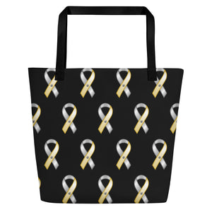 "ASL Bag ""Awareness"" Polyester 16x20 ASL Tote Beach Bag"